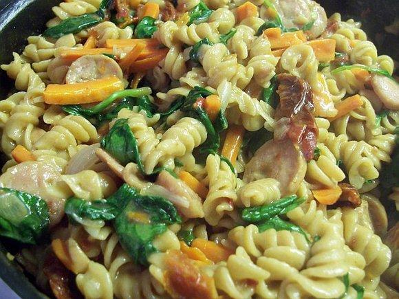 skillet sausage pasta 12