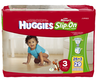 Need A Squirmy Baby Diaper? Try HUGGIES® Little Movers Slip-On® Diaper Pants!